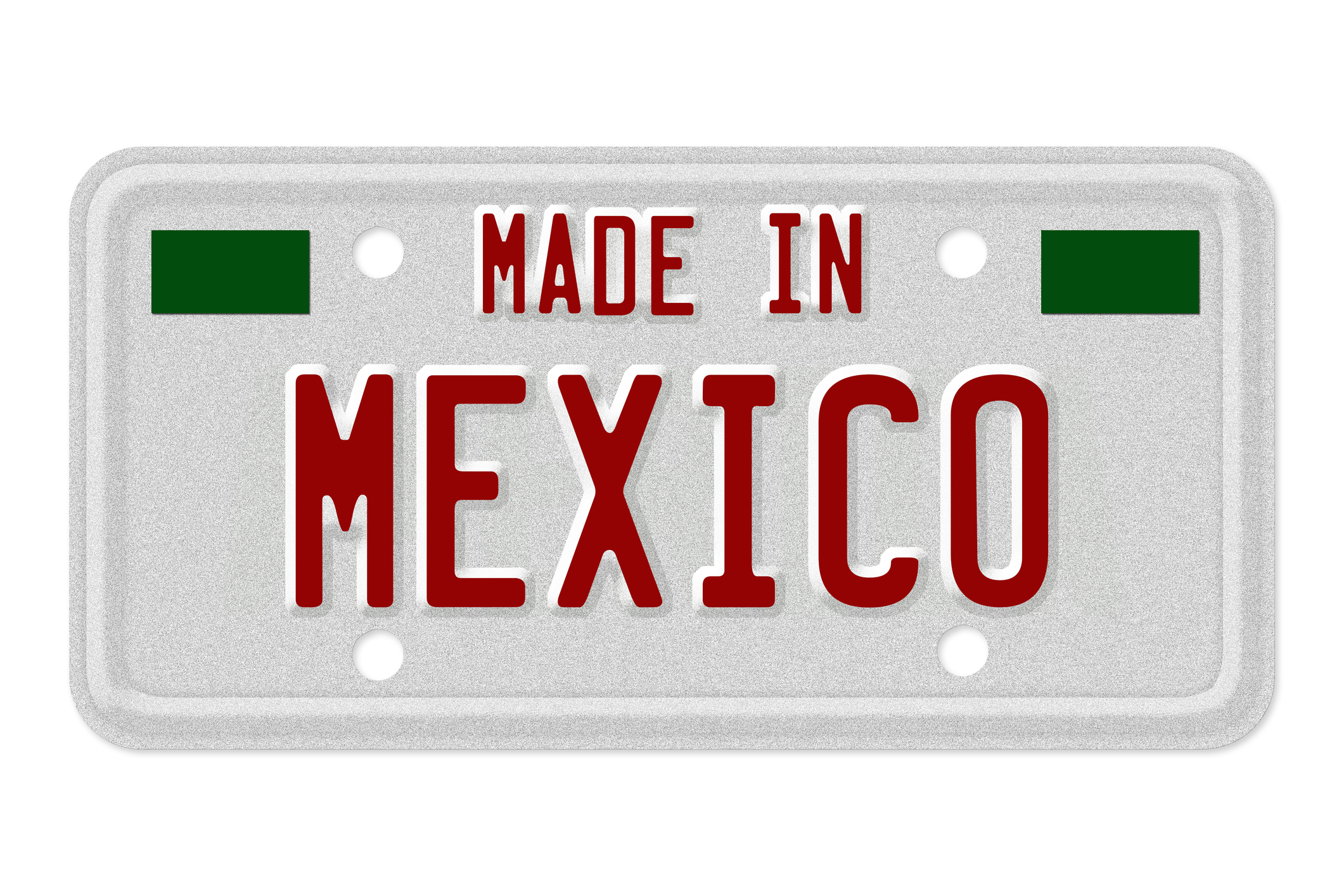 Made in Mexico License Plate