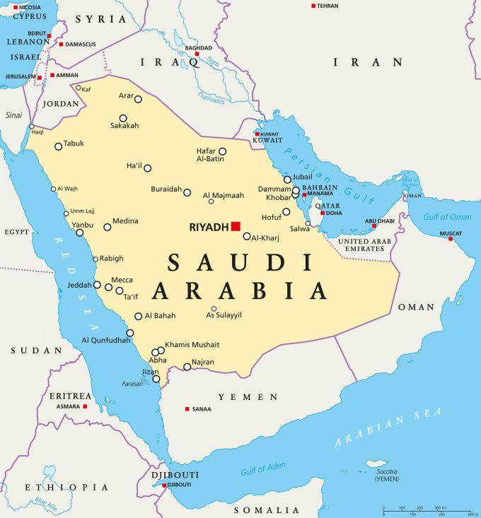 © Peter Hermes Furian |saudi arabia map