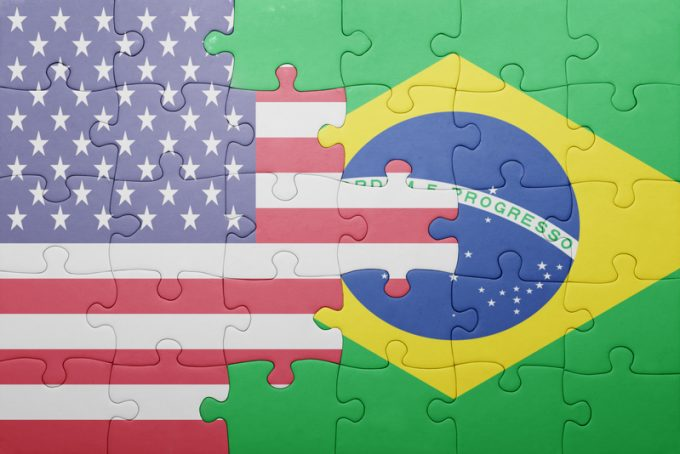 brazil US flag © Ruletkka