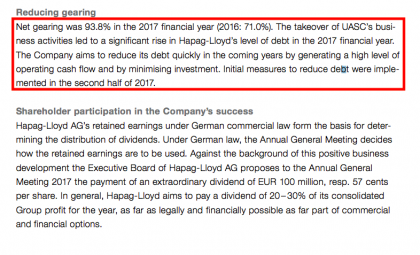 leverage (Source Hapag-Lloyd)