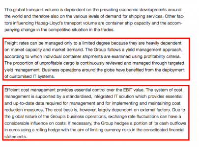 Value levers, 2 of 2 (Source Hapag-Lloyd)