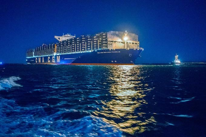 CMA CGM BENJAMIN FRANKLIN - Copyright Port of LA