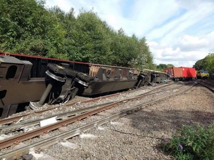 Freight train derailment deals another blow to ailing UK
