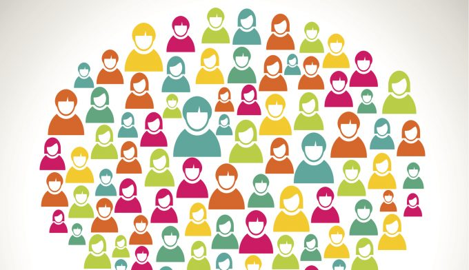 Diversity social media people