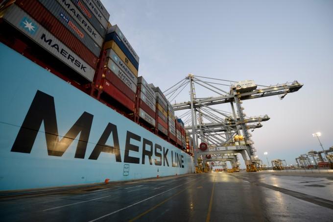 Maersk Line vessel alongside at DP World London Gateway