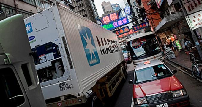Maersk reefer truck