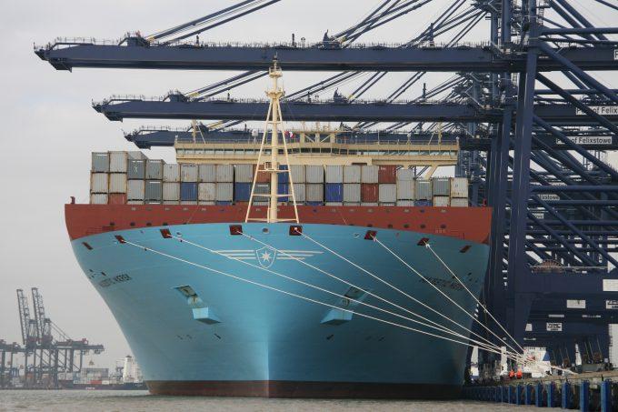 Majestic Maersk at Felixstowe