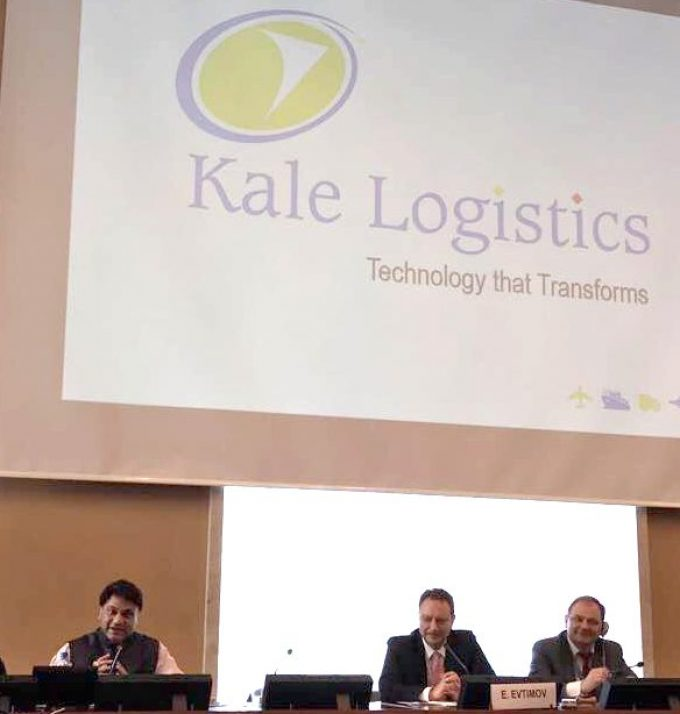 Mr. Amar More,CEO, Kale Logistics Solutions - speaking in the conference at the United Nations