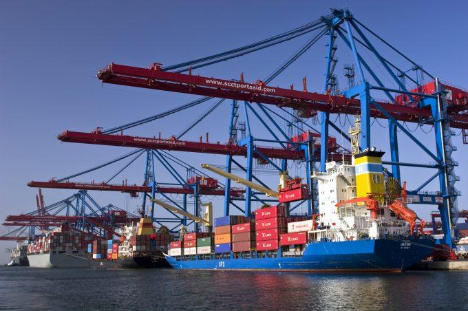 Port Said Suez Canal Container Terminal Egypt