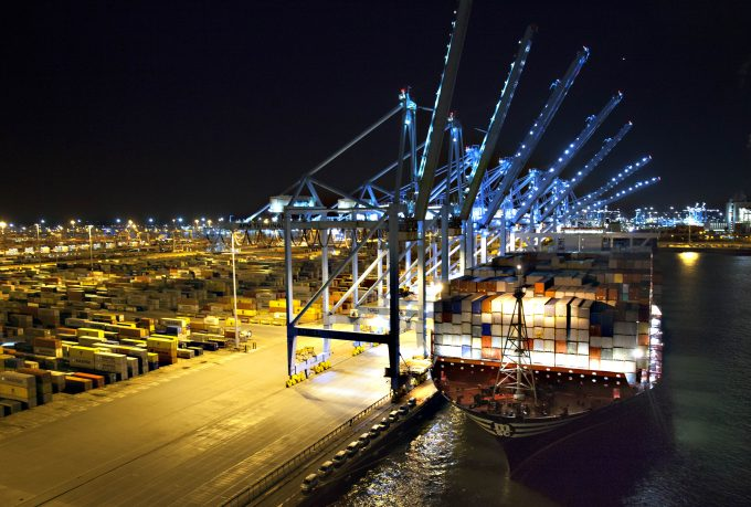 MSC OSCAR at APM Terminals Rotterdam