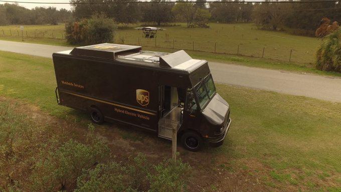 UPS Drone Truck