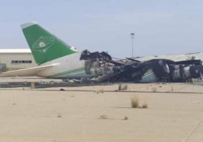 AN-124 destroyed Libya Babak Taghvaee