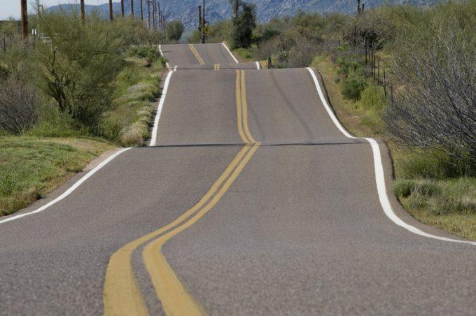 Bumpy Rural Road
