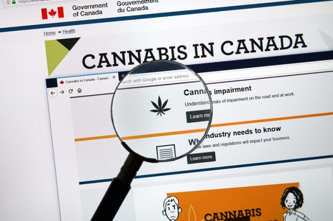 Official web page on Government of Canada site about cannabis