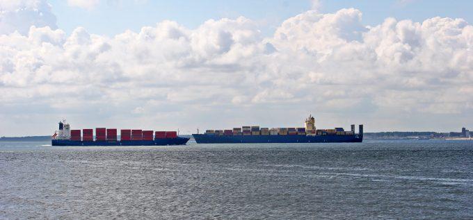 container ships © Jennifer Thompson
