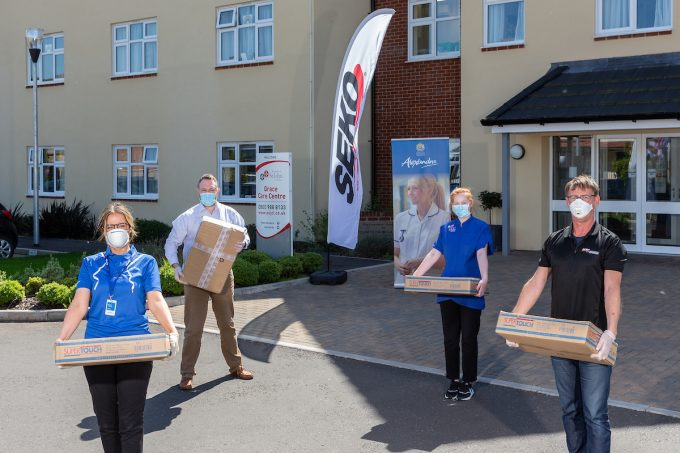 SEKO Logistics teams up with Alexandra Workwear of Thornbury, Bristol, to deliver vital personal protection equipment (PPE) to the 69 homes in the Order of St John Care Trust (OSJCT) group of care homes.