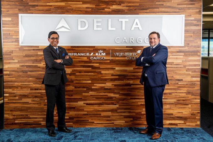 Delta Cargo - Vishal Bhatnagar (L) and Jannie Davel (R)