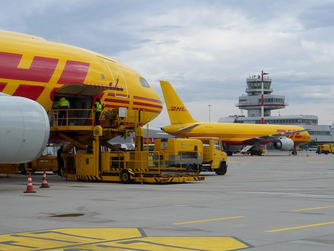 DHL planes at Linz airport