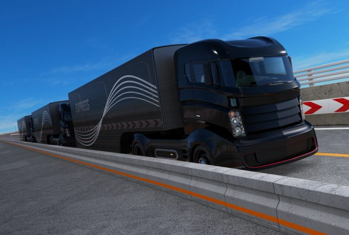 United Kingdom semi-autonomous lorry trials in 2018