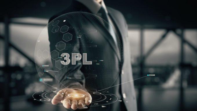 3PL with hologram businessman concept