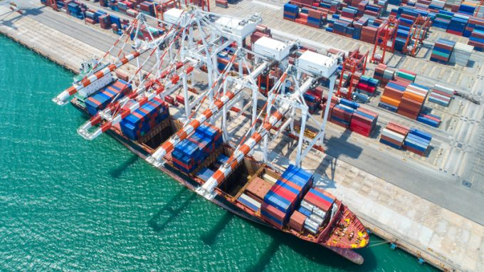 container,container ship in import export and business logistic,