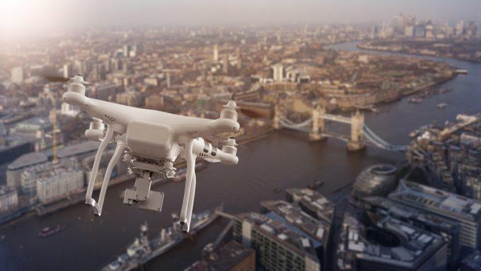 drone in london