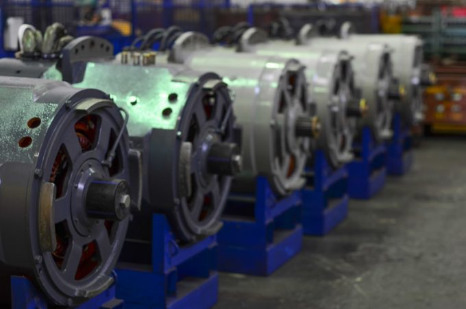 Electric engines for quarry dump trucks. Manufacture of automobiles