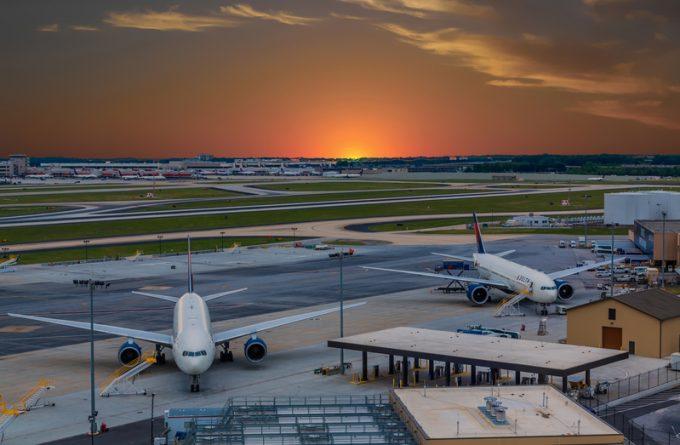 Atlanta Airport at Sunset