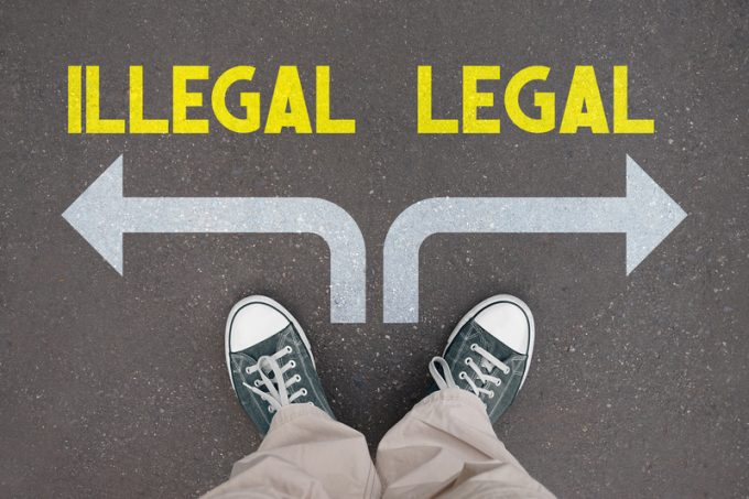 Shoes, trainers - illegal, legal