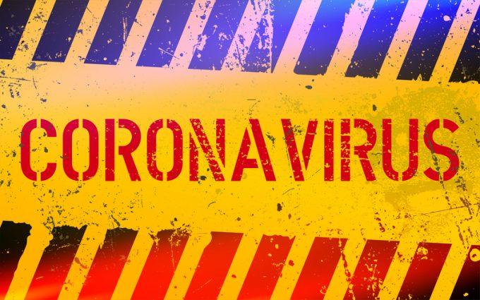 Coronavirus warning sign. Infectious virus in China. Coronavirus outbreak. Quarantine zone.