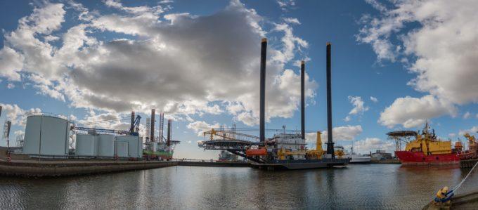 offshore wind turbines in Esbjerg