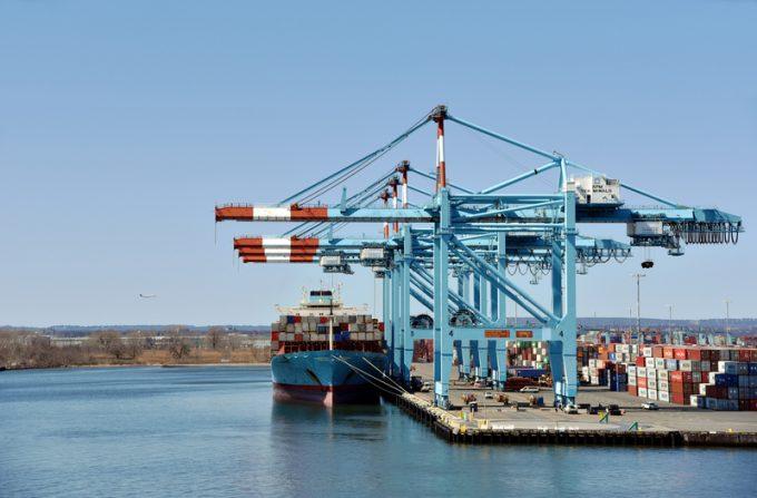 Maersk in New York Newark terminal