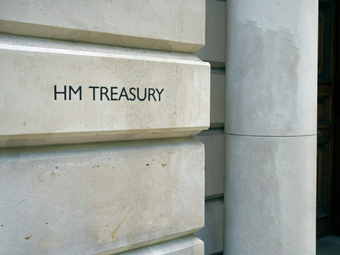 HM Treasury building, London, UK