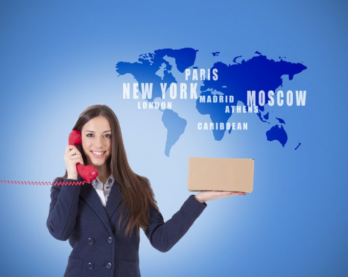 woman with package courier