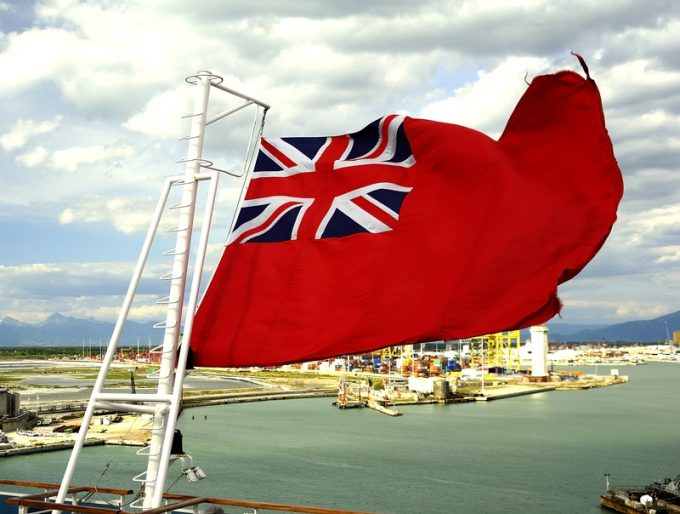Red Ensign in the wind