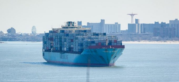 Maersk vessel in New York