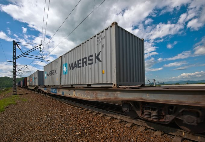 Maersk Pantos AE19 Asia-Europe rail-sea service