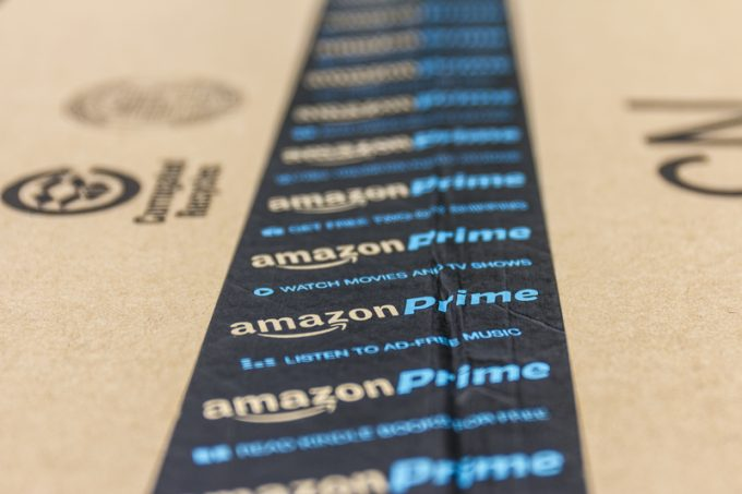 Indianapolis - Circa September 2016: Amazon Prime Parcel Package. Amazon.com is a premier online retailer IV