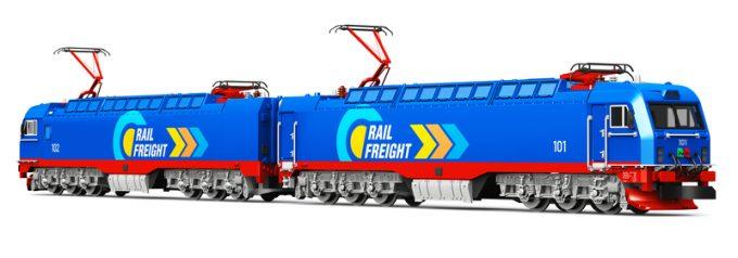 Modern heavy freight electric rail