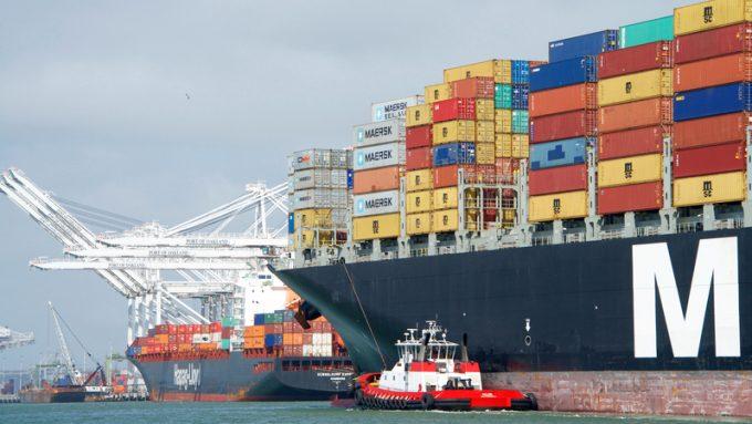 MSC vessel in Oakland