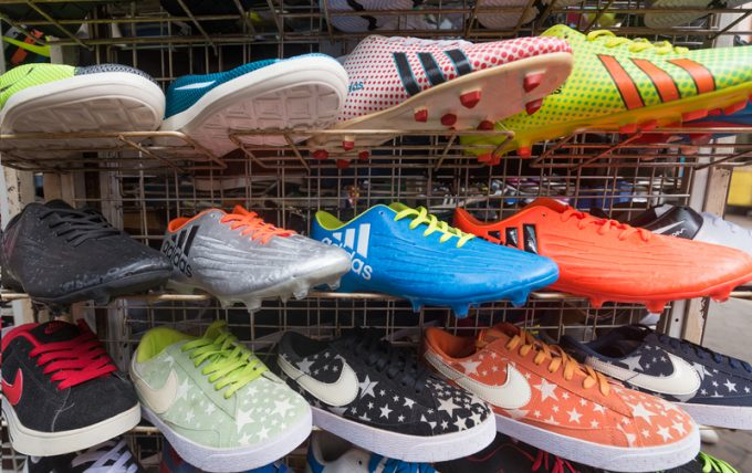 counterfeit sports shoes on market
