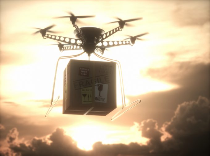 Future Technology Delivery Drone