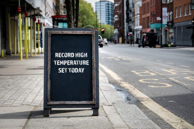 Record high temperature set today