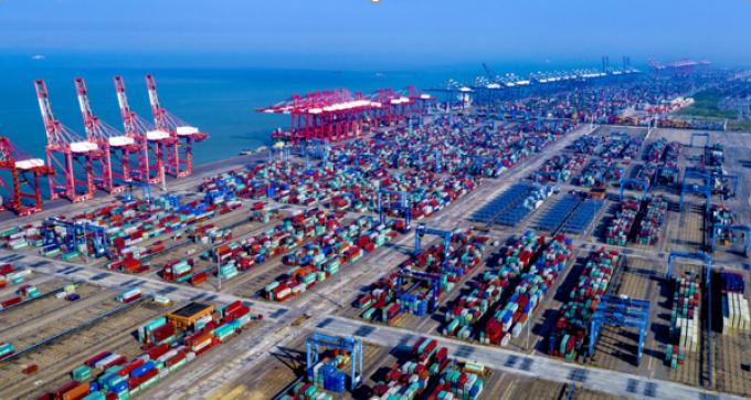 Guangzhou port of nansha
