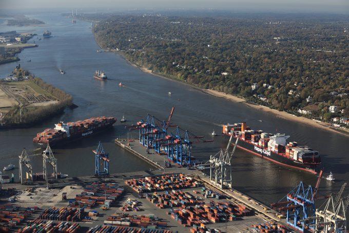 Hamburg port Elbe