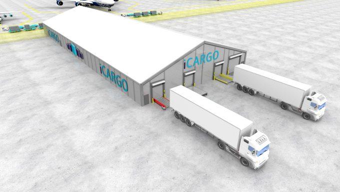 Import-Export Sim 1.8.9.15.2 - 21 R Building + Vehicles iCARGO logo