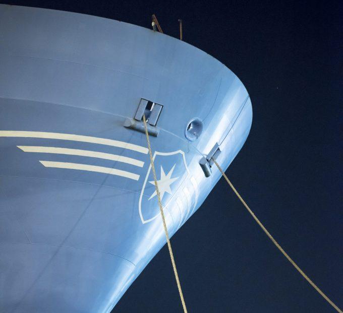 Maersk vessel bow photo
