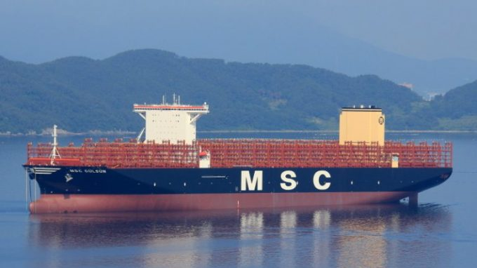 World's largest boxship, featuring 24 rows across, is delivered