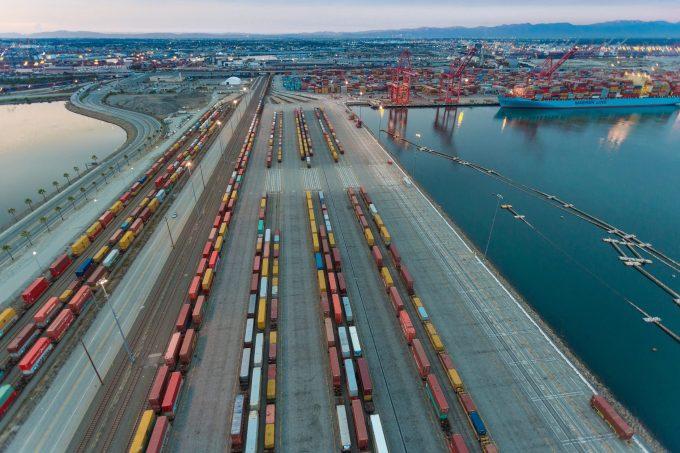 On-dock rail near Pier T.