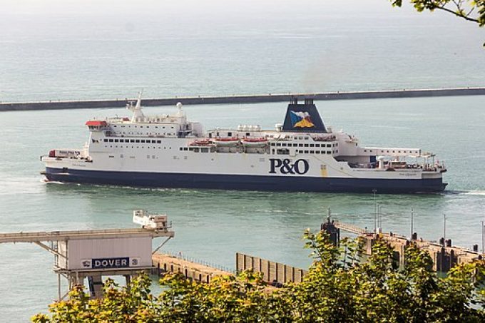 Pride of Burgundy - P&O - leaving the Port of Dover